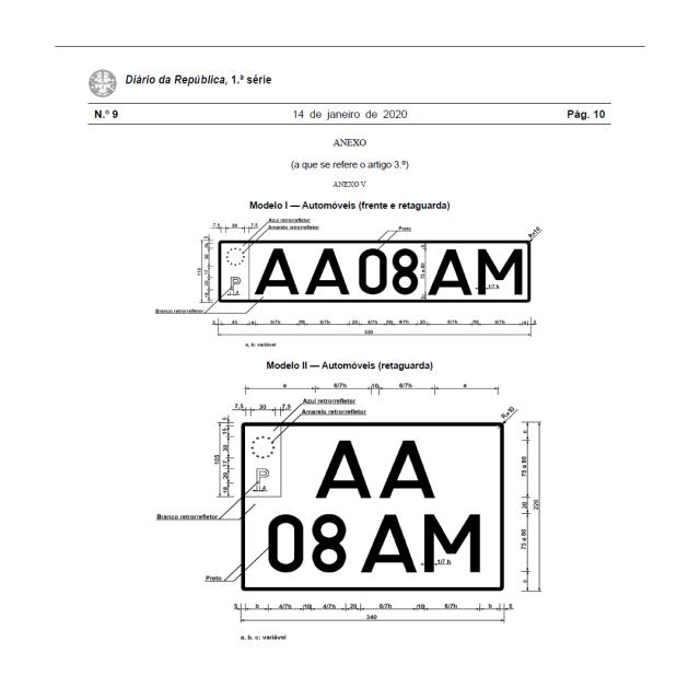 Novas matrículas dizem adeus ao ano e mês e têm nova combinação de letras e números