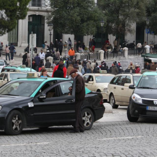 Concentração de Táxis em 19 de Setembro de 2018