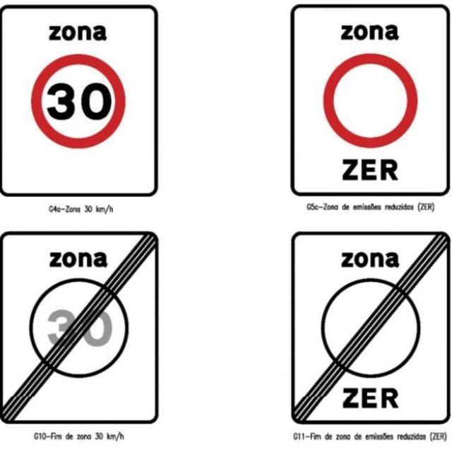 Novos sinais de trânsito a partir de 2020