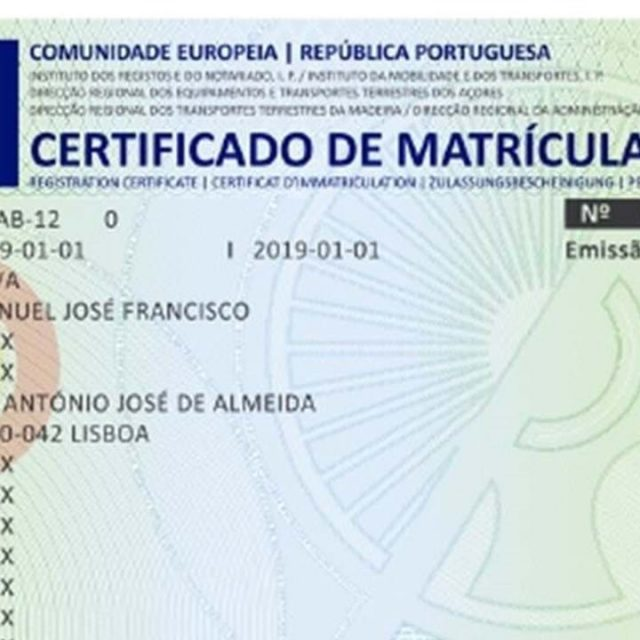 Novo modelo de DUA/Certificado de matrícula