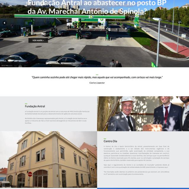 Site Fundação Antral – Já está online